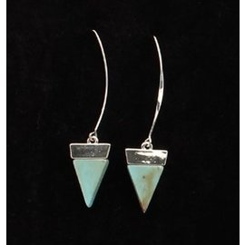 SILVER STRIKE LARGE SILVER HOOK WITH TRIANGLE EARRINGS