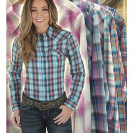 WRANGLER WRANGLER WOMENS SNAP LONG SLEEVE SHIRT
