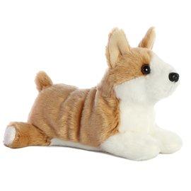 "AURORA MINI FLOPSIE CORKY CORGI DOG - 8"""