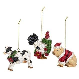 CHRISTMAS ORNAMENTS - BARNYARD ANIMALS