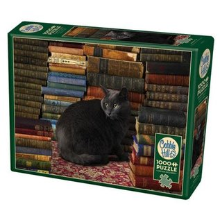 COBBLE HILL PUZZLE - LIBRARY CAT