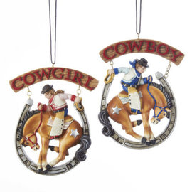 KURT ADLER COWBOY AND COWGIRL ORNAMENTS