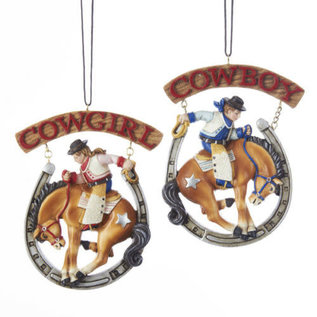 KURT ADLER COWBOY AND COWGIRL ORNAMENTS