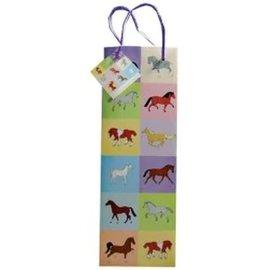 GRAY'S PASTEL HORSES BOTTLE GIFT BAG