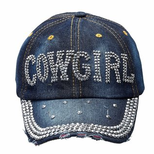 AWST AWST SILVER BLING DENIM BALL CAP