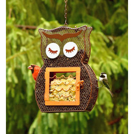 HEATHOUTDOORS BIRD FEEDER - SUET N SEED OWL