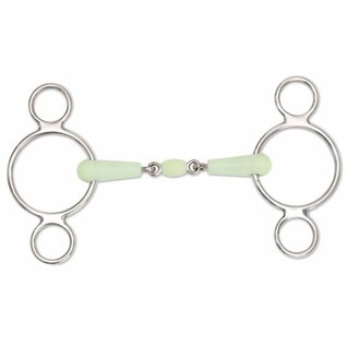 SHIRES SHIRES EQUIKIND TWO RING GAG WITH PEANUT