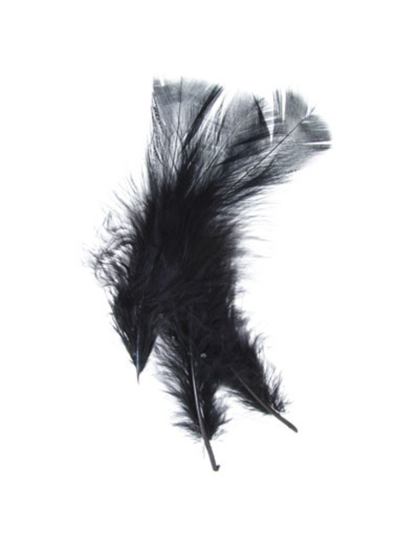 Marabou Feathers Black 6g