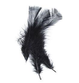 Marabou Feathers Black 6g