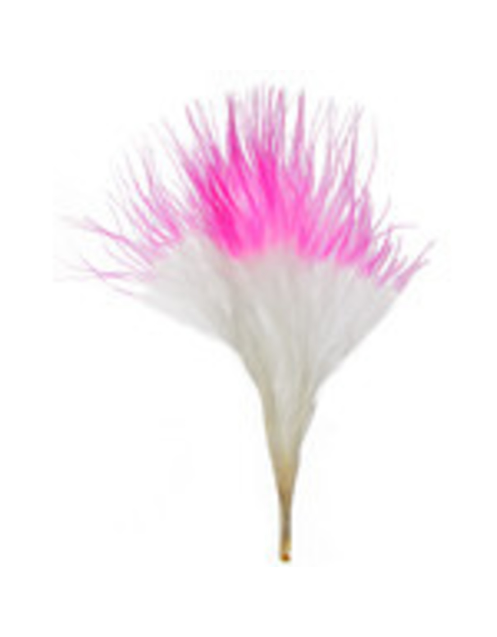 Marabou Feathers 4-6in White Pink Tip  6g