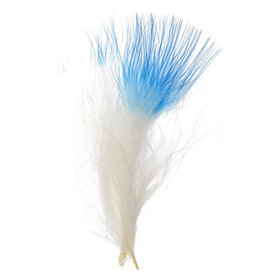 Marabou Feathers 4-6in White Turquoise Blue Tip  6g