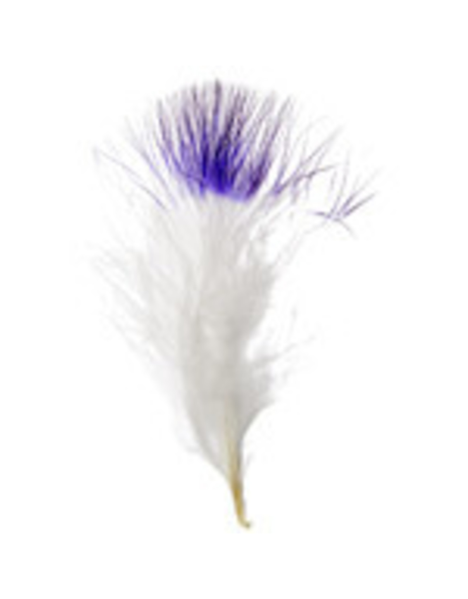 Marabou Feathers 4-6in White Purple Tip  6g