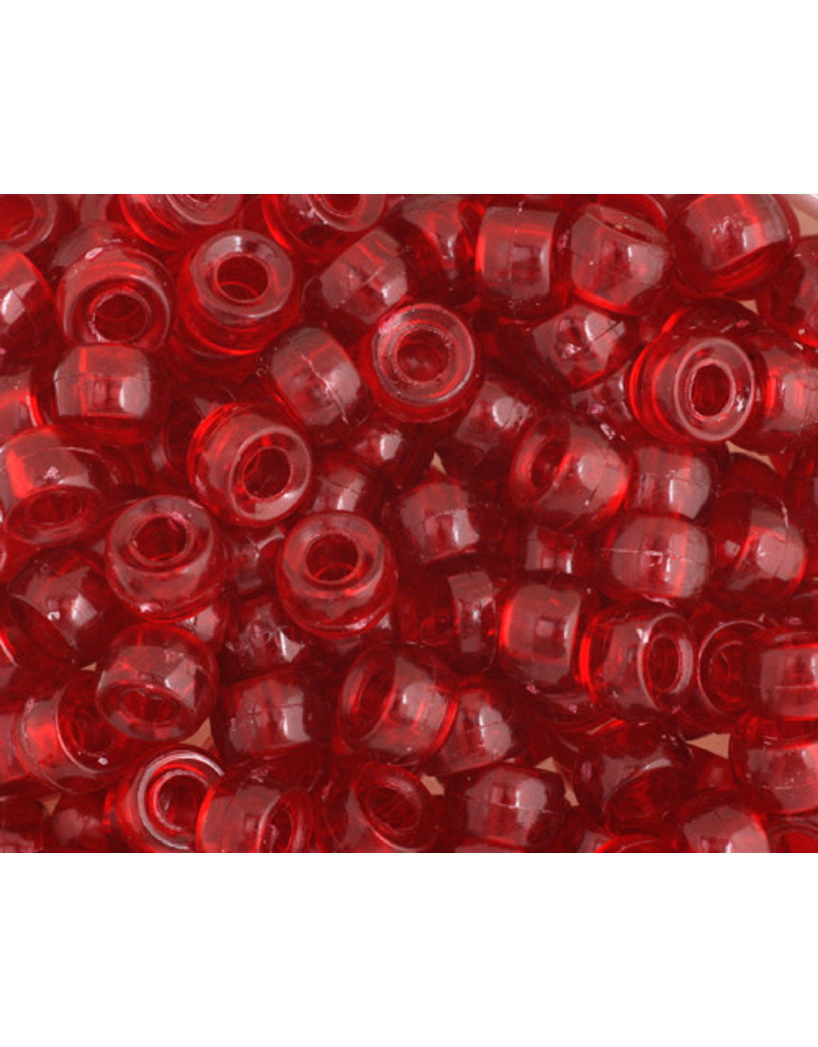 Mini Crow Beads 6mm  Transparent Ruby x500
