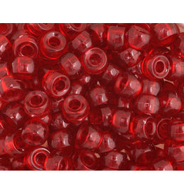 Mini Crow Beads 6mm  Transparent Ruby Red x250