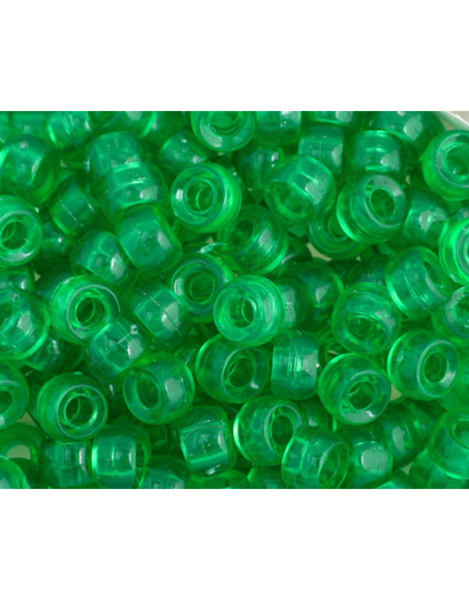 Mini Crow Beads 6mm Transparent Green x500