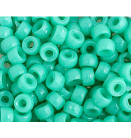Mini Crow Beads 6mm Opaque Turquoise Blue x250