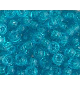 Mini Crow Beads 6mm Transparent Turquoise Blue x500