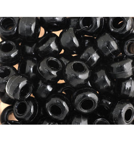 Crow Beads 9mm Opaque Black x500