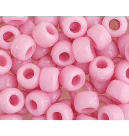 Crow Beads 9mm Opaque Pink x500