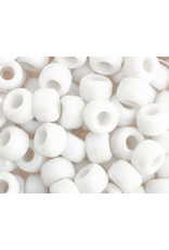 Crow Beads 9mm Opaque White x500
