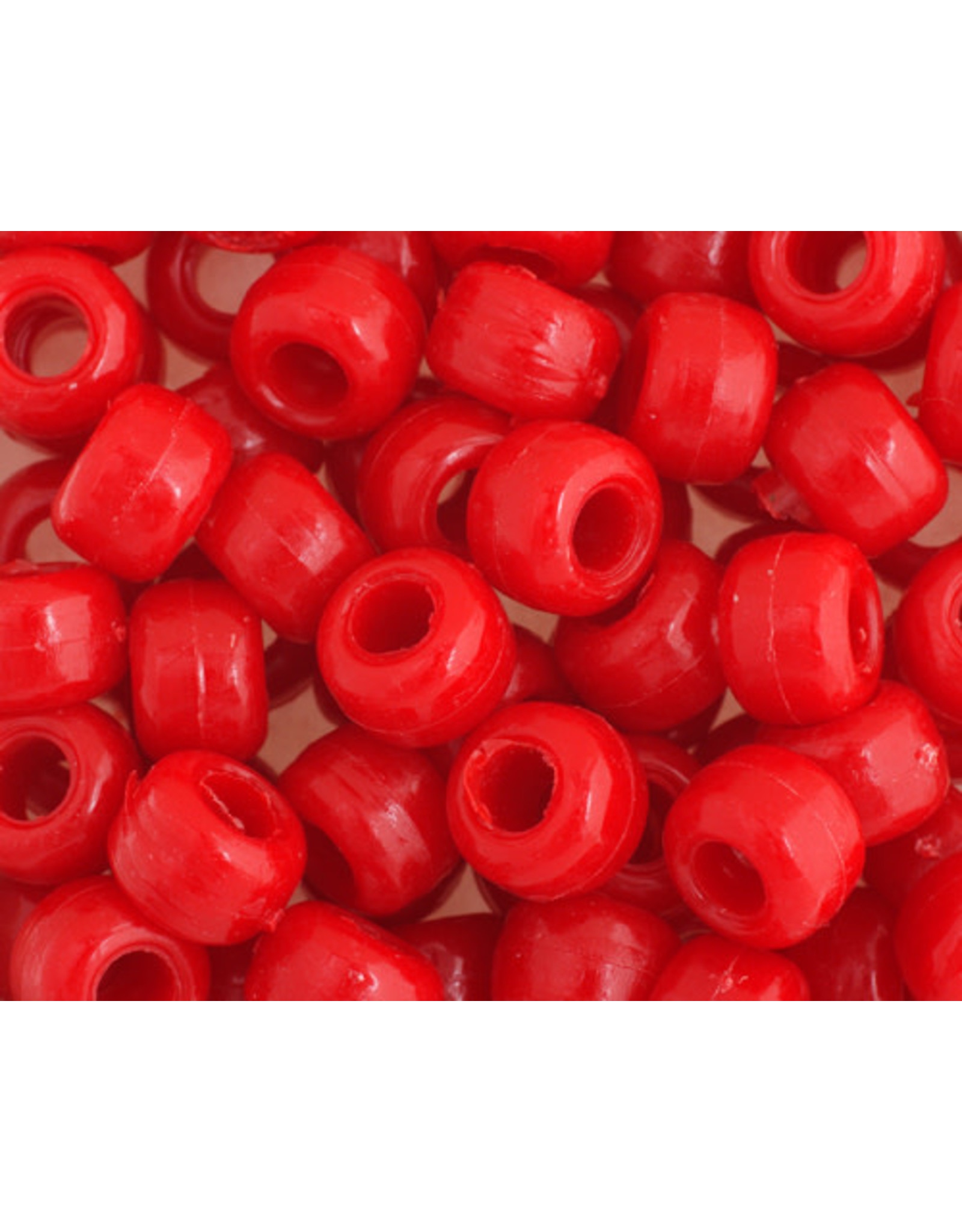 Crow Beads 9mm Opaque Red x500
