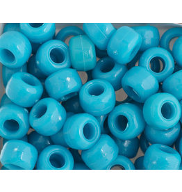 Crow Beads 9mm Opaque Turquoise Blue x500