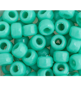 Crow Beads 9mm Opaque Light Turquoise Blue x500