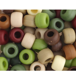 Crow Beads 9mm Opaque Camouflage Mix x500