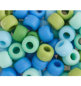 Crow Beads 9mm Opaque Blueberry Mix x500