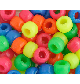 Crow Beads 9mm Opaque Neon Mix x500
