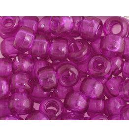 Crow Beads 9mm Transparent Amethyst Purple x500