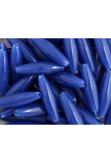 Spaghetti Beads 19x6mm Opaque Blue x200