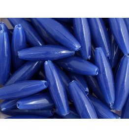 Spaghetti Beads 19x6mm Opaque Blue x200