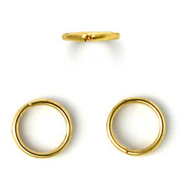 Jump Ring 8mm Gold x100