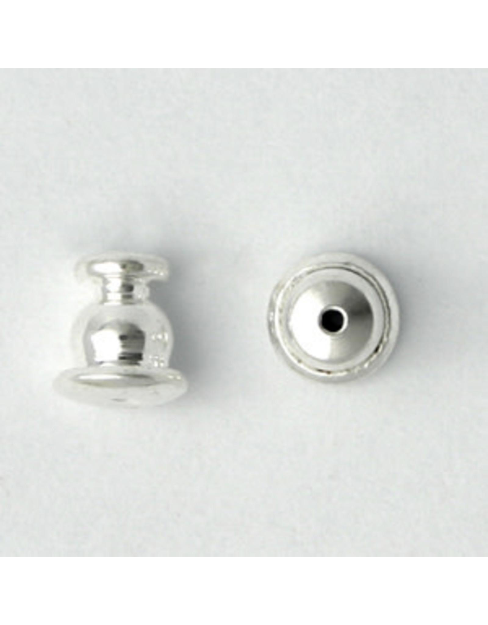 Earring Back 5x5mm Silver x50