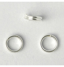 Split Ring 5mm Silver x100