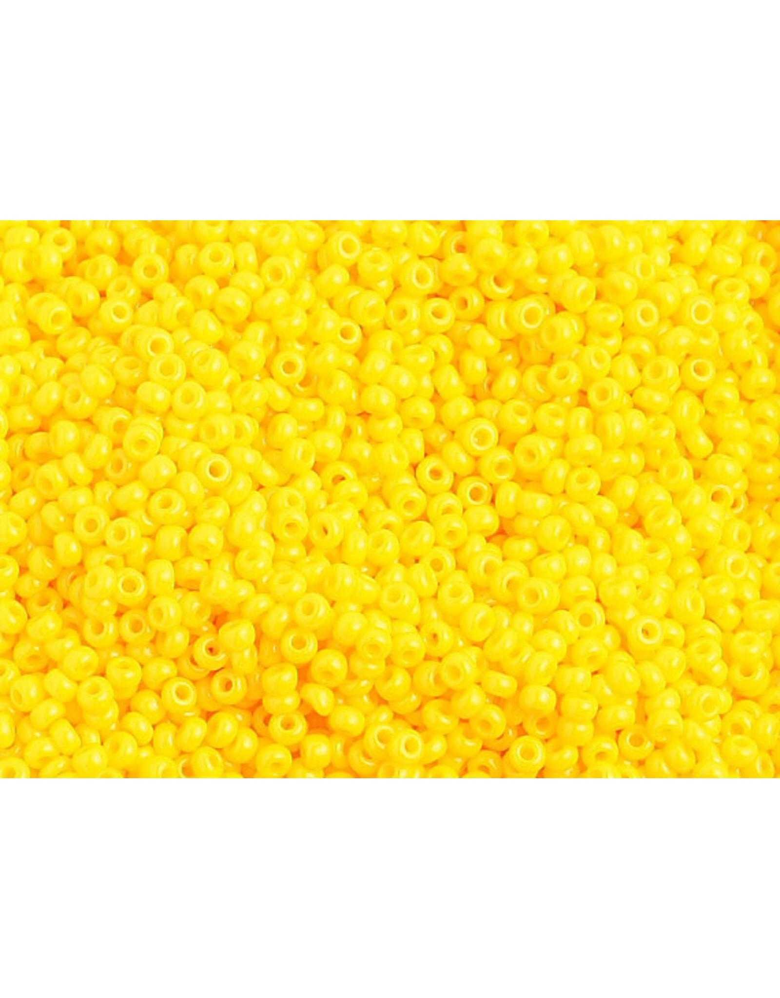 Czech 1034 10   Seed 20g Opaque Gold Yellow