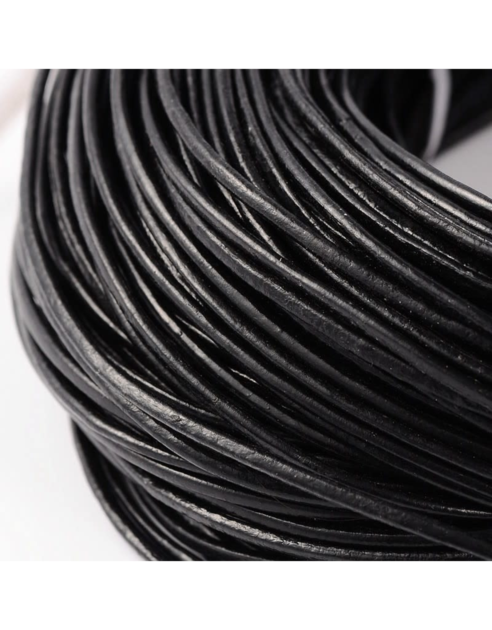 200sb 2mm Leather Black 10 meter