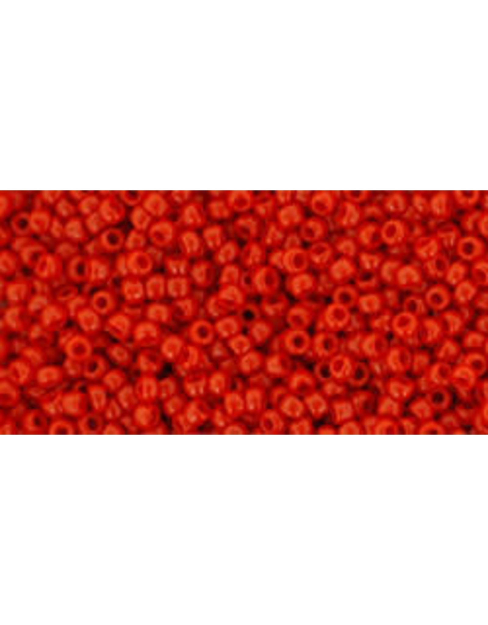 Toho 45B 15  Round 20g  Opaque Red Pepper
