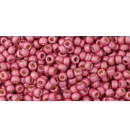 Toho pf563f 11  Round 6g Pink Metallic Matte