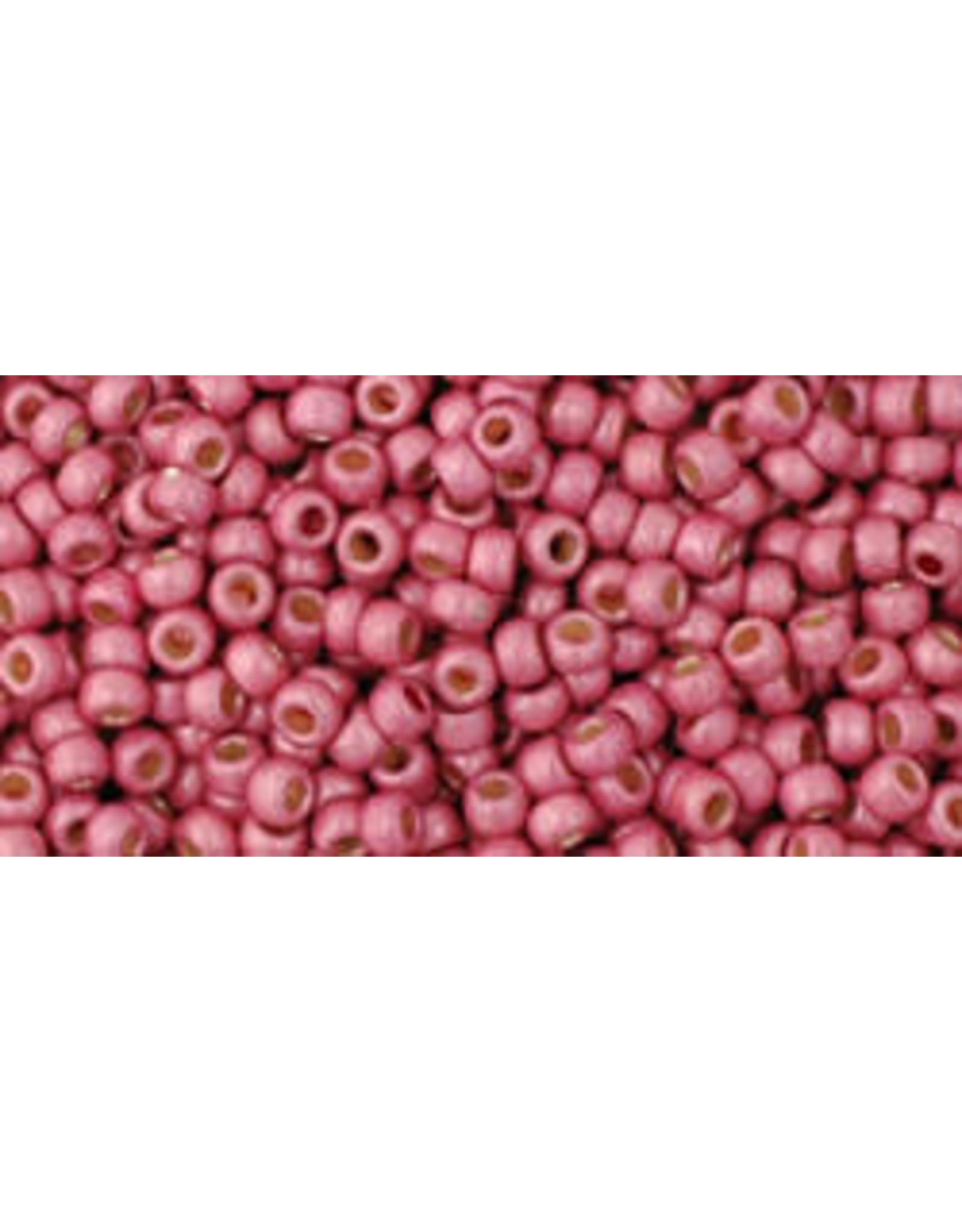 Toho pf563fB 11 Toho Round 40g Pink Metallic Matte