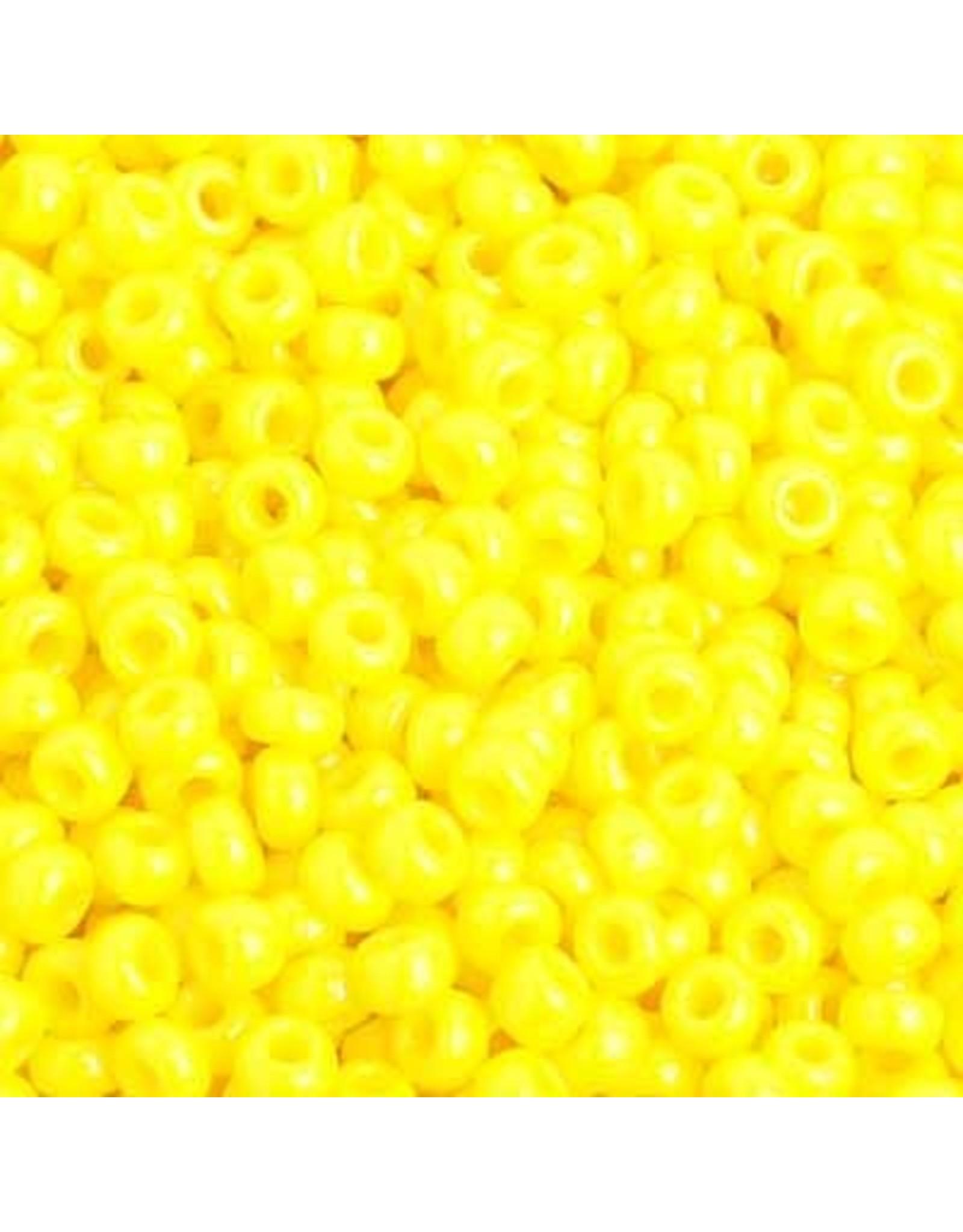 Czech 201581 8 Czech Seed 20g Opaque Lemon Yellow