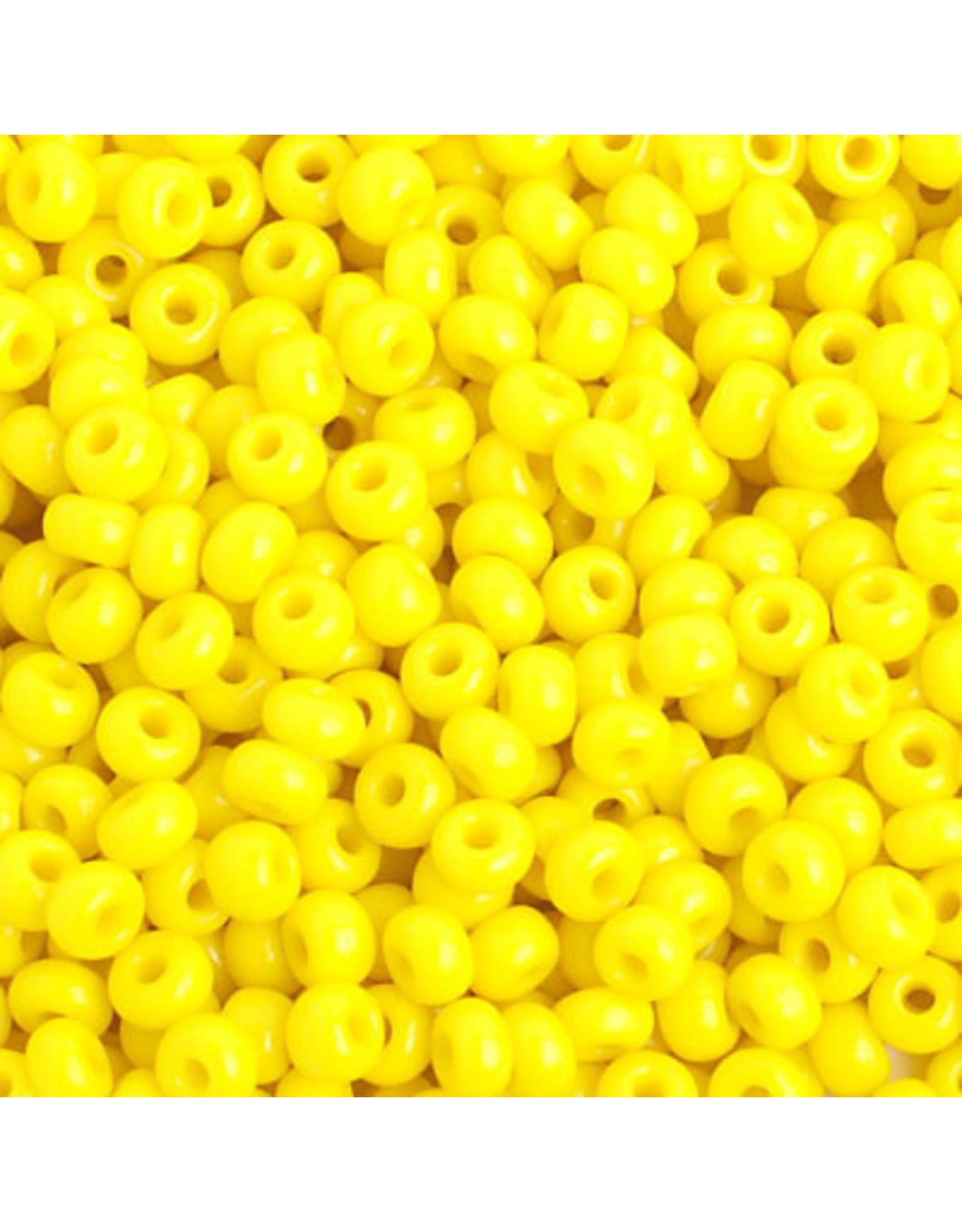 Czech 401633 6 Czech Seed 20g Opaque Lemon Yellow