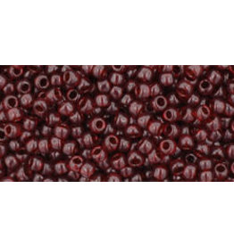 Toho 5d 11  Round 6g Transparent  Garnet Red