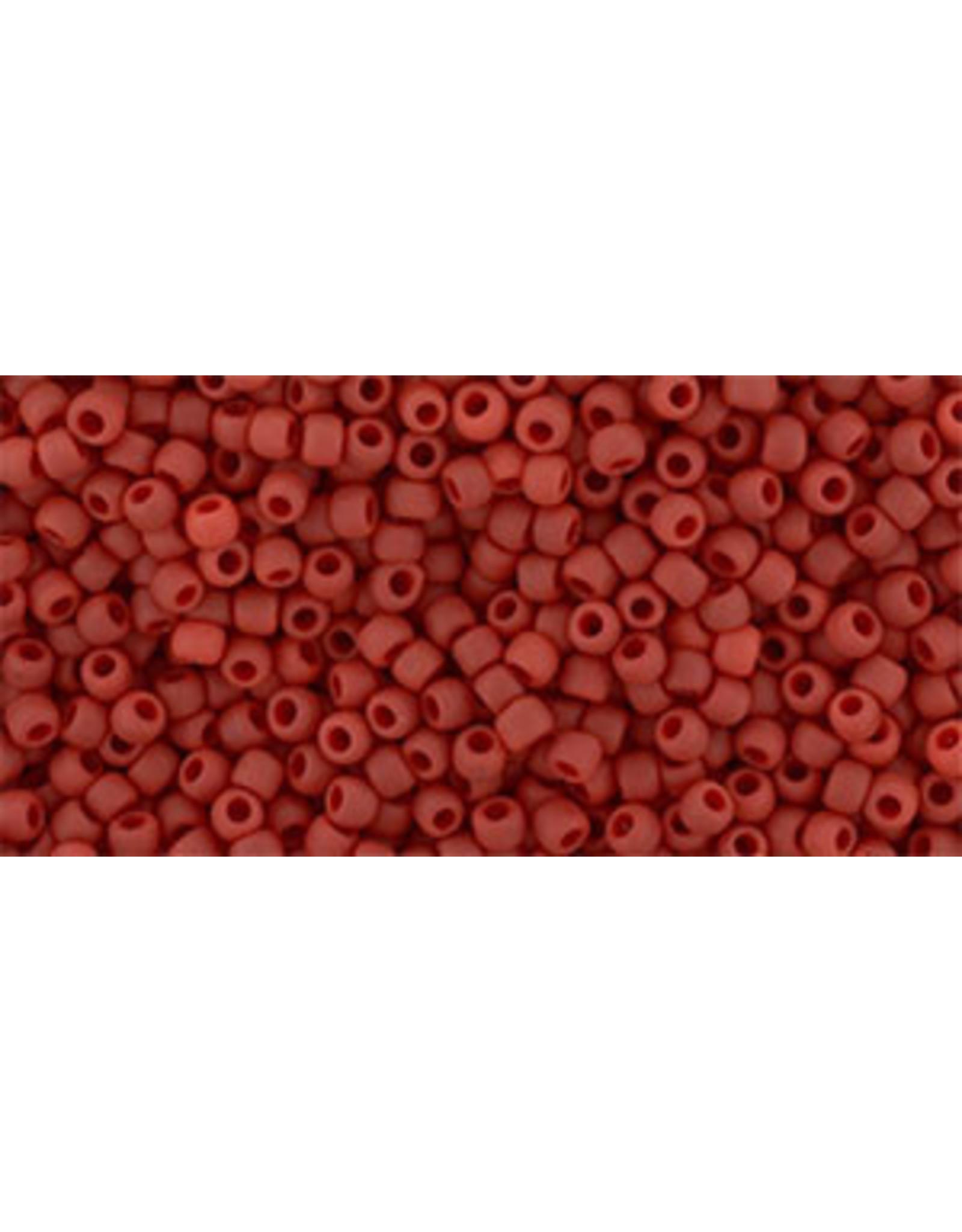 Toho 45f 11  Round 6g Opaque Pepper Red