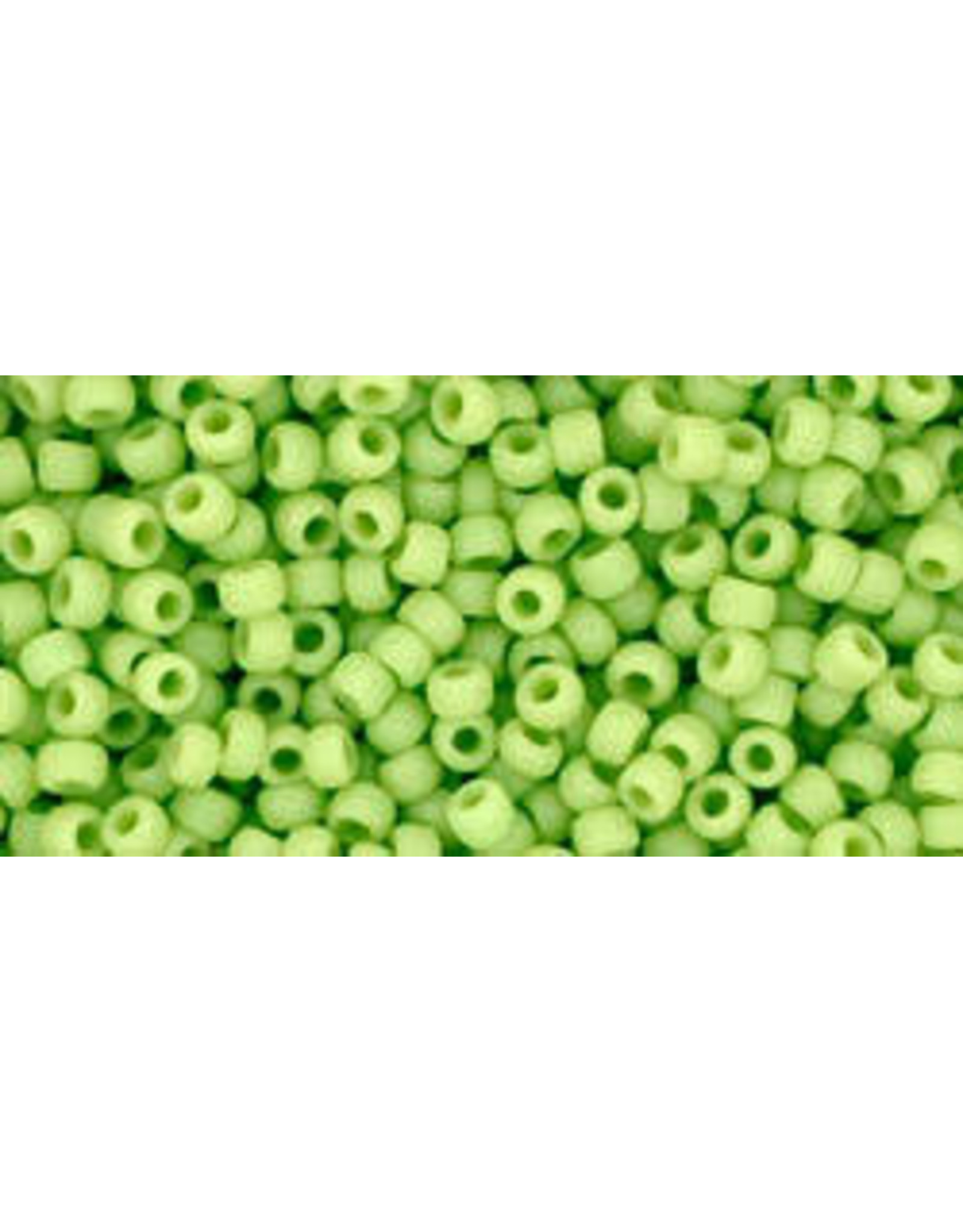 Toho 44f 11  Round 6g Opaque Apple Green Matte