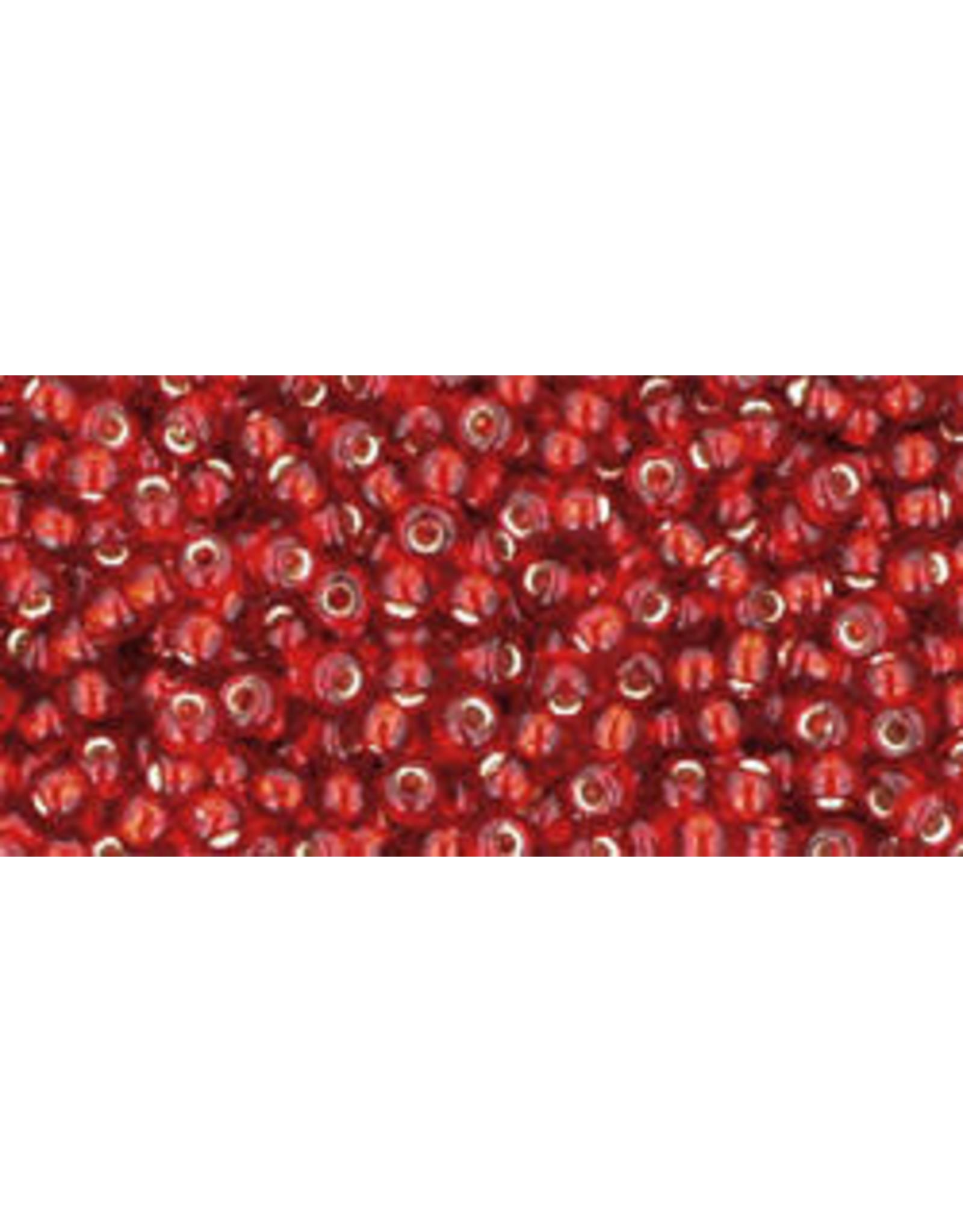 Toho 25cB 11  Round 40g Ruby Red s/l