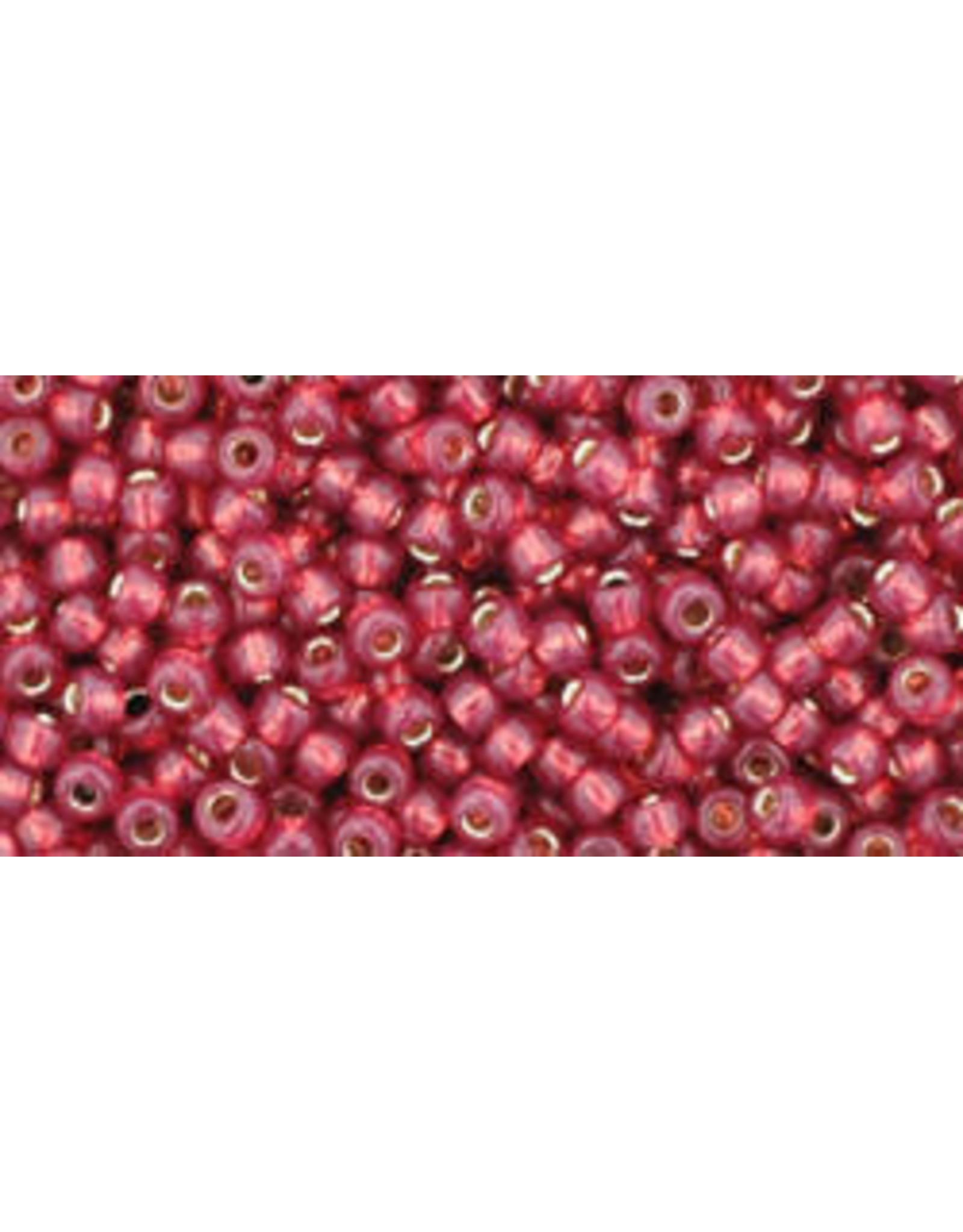 Toho 2113B 11  Round 40g Milky Pomegranite Red s/l