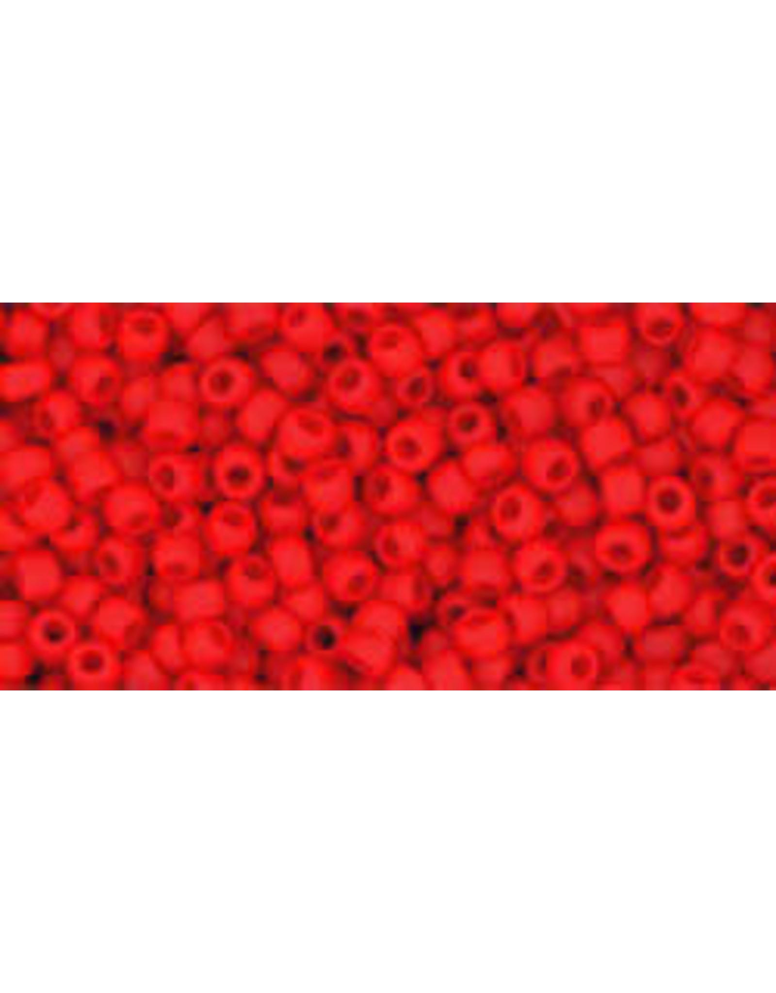 Toho 45afB 11 Toho Round 40g Opaque Cherry Red Matte