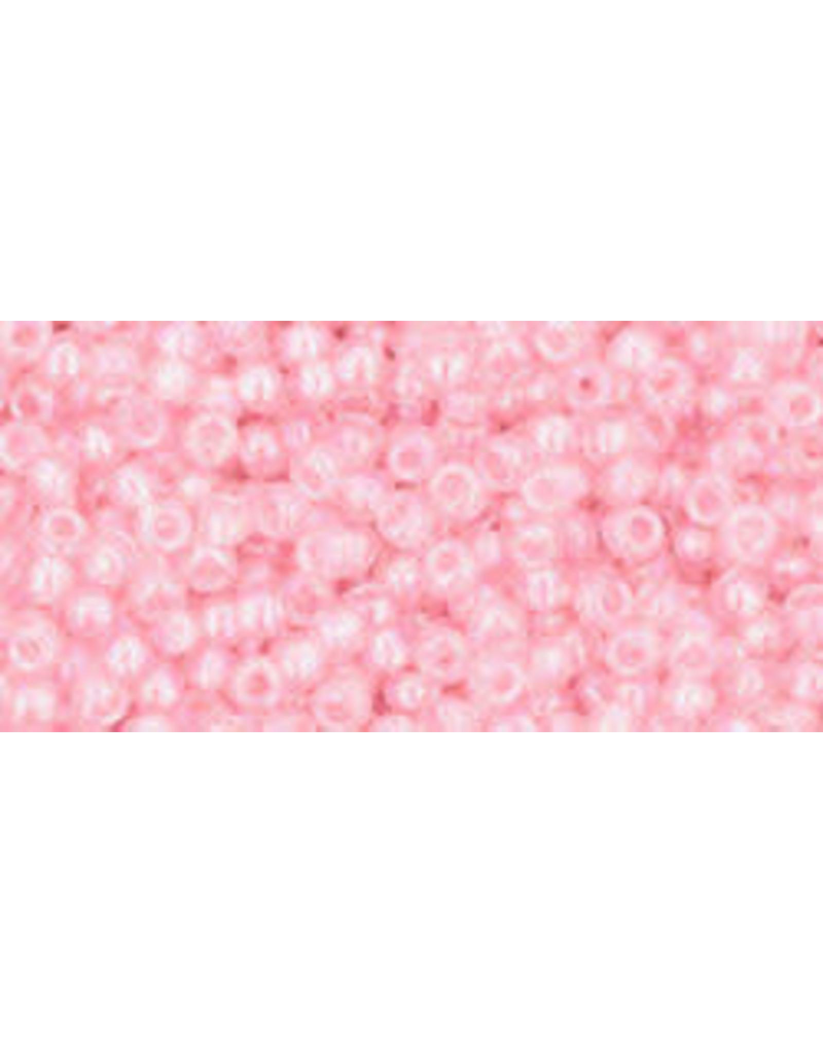 Toho 171B 11  Round 40g  Transparent Light Pink AB